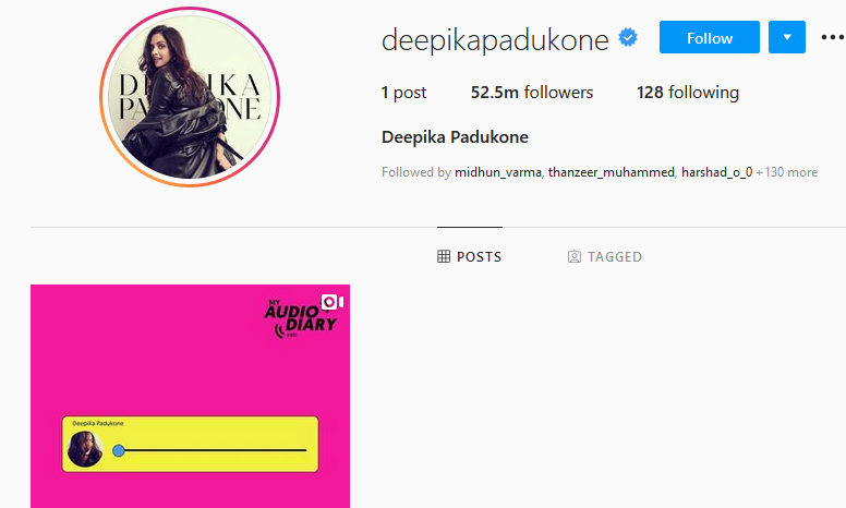 Deepika Padukone deletes content of Instagram, Twitter profiles