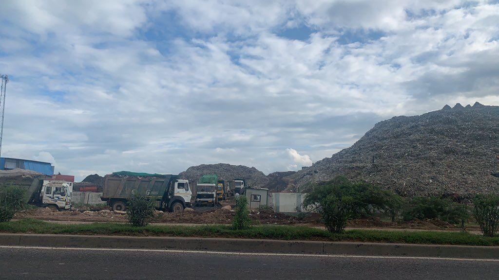 Waste piles up to form 42-metre-high mountain in Haryanas Gurugram