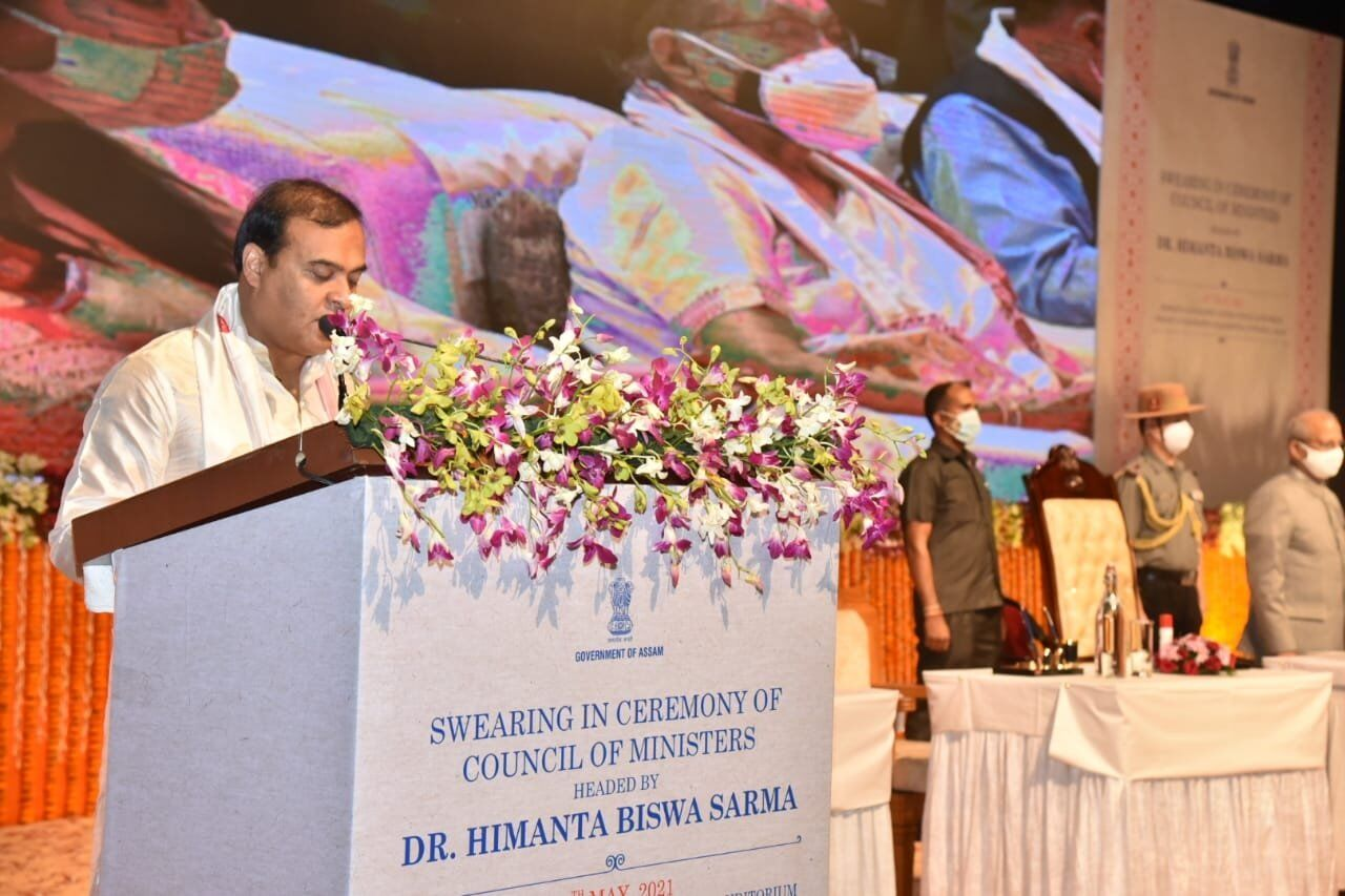 Himanta Biswa Sarma sworn in as the 15th Chief Minister of Assam
