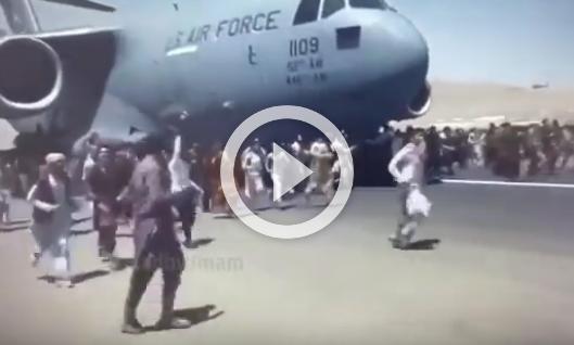 Chaos at Kabul airport as Taliban retakes Afghanistan