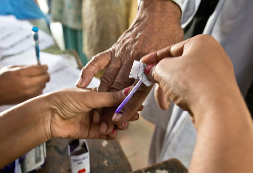Lakhs vote in by-polls across four states