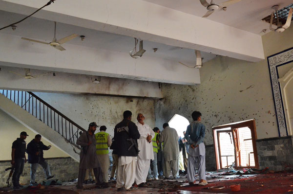 Nearly 50 killed in bomb attack in Pak mosque