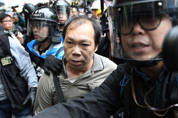 Pro-democracy protesters clash with police in Hong Kong