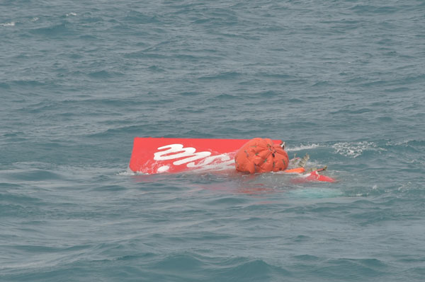AirAsia crash: Planes tail lifted