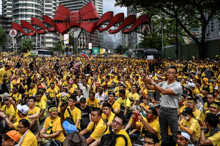 Thousands gather in Malaysia demanding PMs resignation