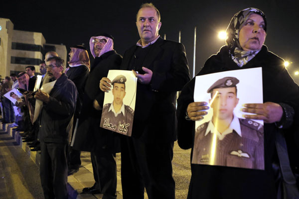 IS claims to have executed Jordanian pilot