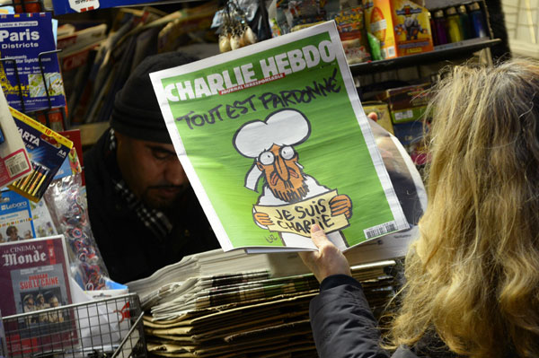 Latest edition of Charlie Hebdo sells out before dawn