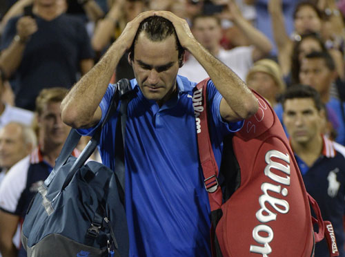 Roger Federer loses to Tommy Robredo in 4th round of US Open
