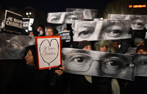 World denounced Paris attack as attack on free expression