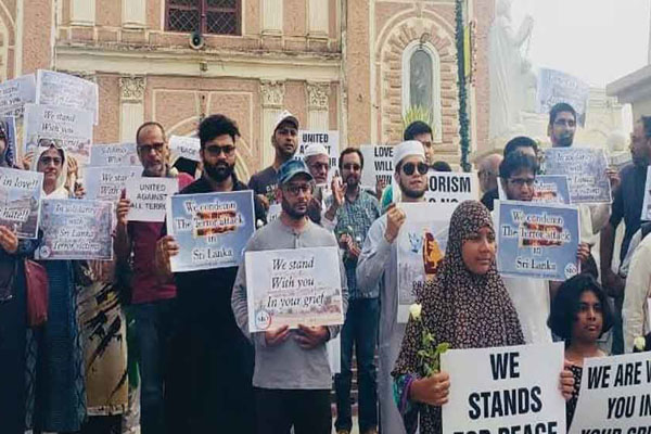 Hyderabad Muslims condemn Sri Lanka bomb blasts
