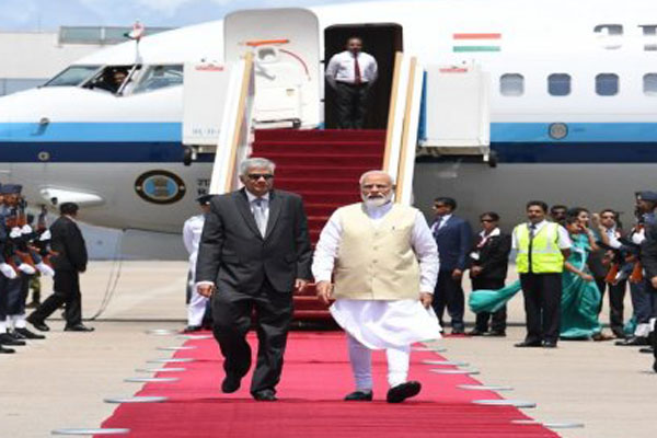 Sri Lanka cant be cowed down by terror, says Modi
