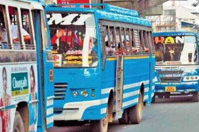 Bus service begins in Kerala with restricted time schedule