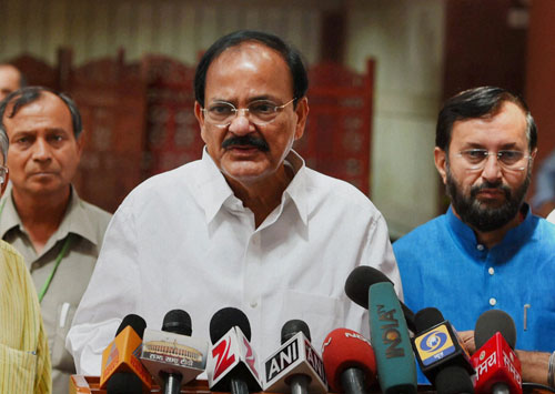 Give time to control price rise: Venkaiah