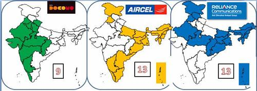 RCom, Tata Tele, Aircel Tie Up for 3G services