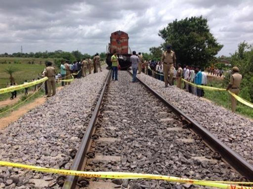 20 students killed as train hits school bus in Telangana