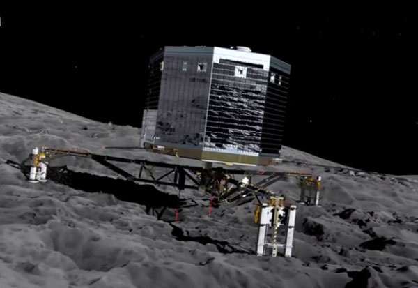 Philae lander makes historic comet landing
