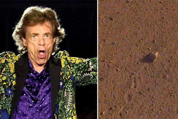 NASA names Martian rock after The Rolling Stones