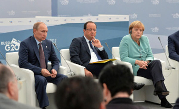 Putin, Merkel, Hollande end talks on Ukraine crisis