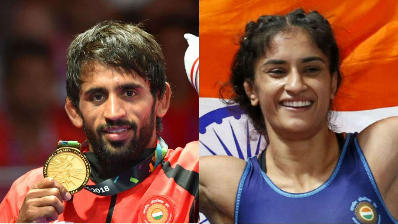 Bajrang Punia, Vinesh Phogat nominated for Khel Ratna by wrestling federation