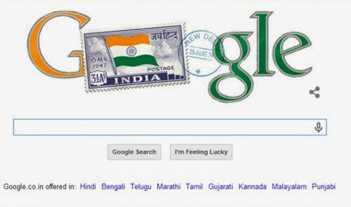 Googles doodle features independent Indias first stamp