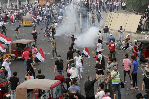 Curfew hours reduced in Baghdad amid protests