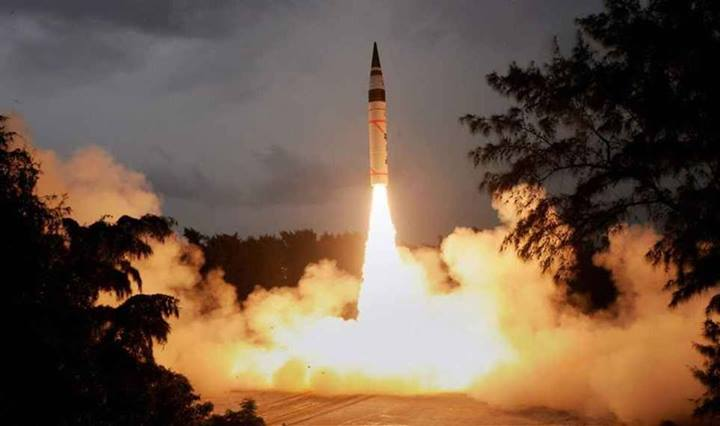 Nuclear-capable Agni-V tested for second time
