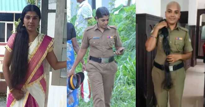 Bald & beautiful: Kerala woman cop sheds long tresses for cancer patients