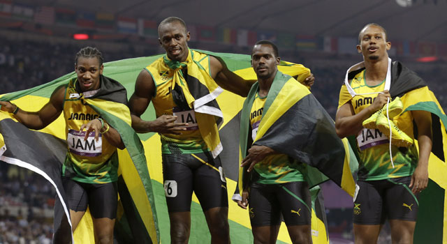 Olympics: Bolt leads Jamaica to record sprint relay gold