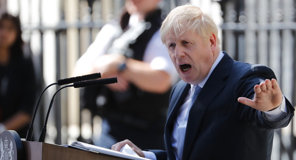 Boris Johnson formally takes charge as Britains new PM