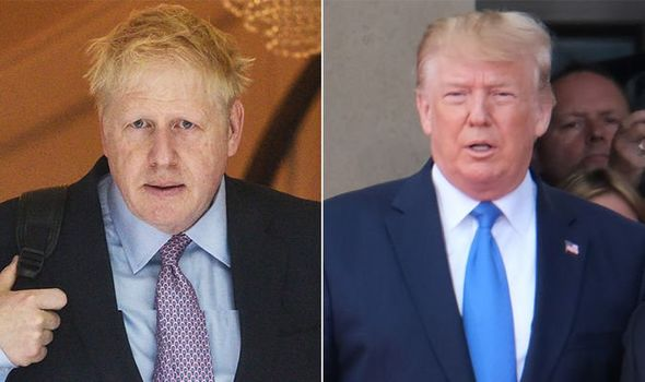 Iran poses loyalty test for British Trump Johnson