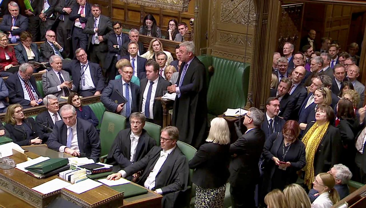 Brexit: British MPs back delay bill by one vote