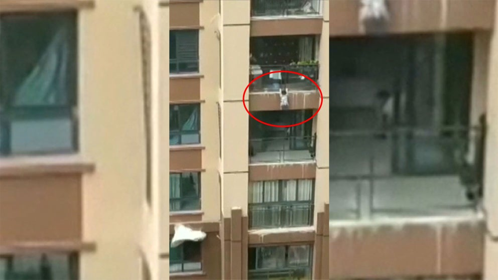 Chinese toddler falls six storeys, survives