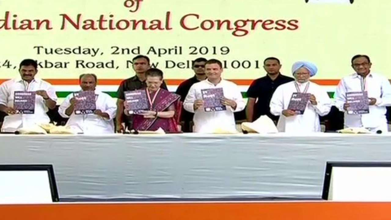 Congress releases 2019 LS election manifesto