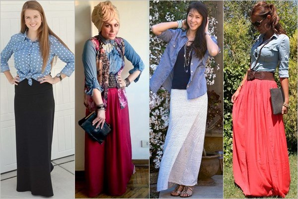 Long skirts back in trend