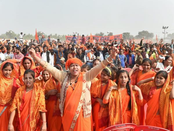 The communal call from Dharmasabha
