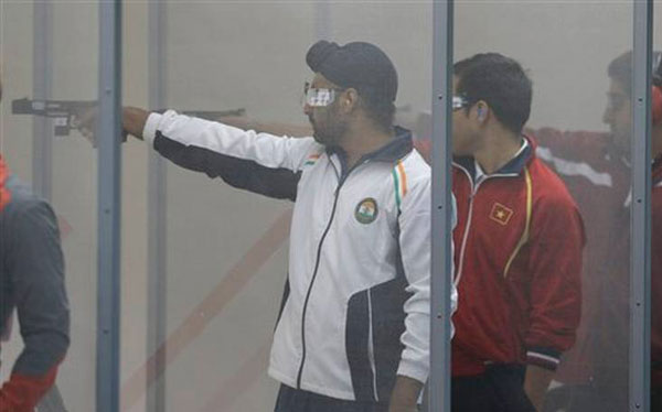 Indian mens team clinches silver in 25m center fire pistol