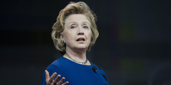 Clinton comes with four decades of public life