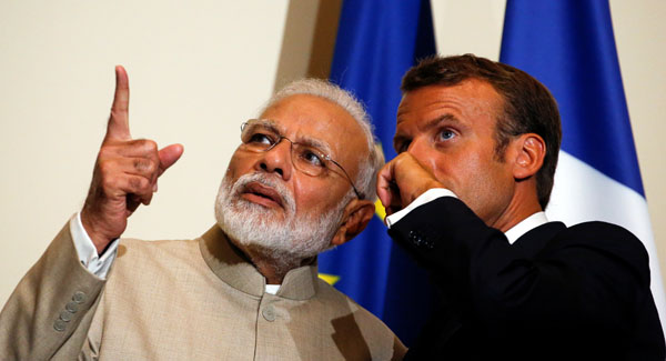 Modi in France: Macron speaks against third party interference in Kashmir