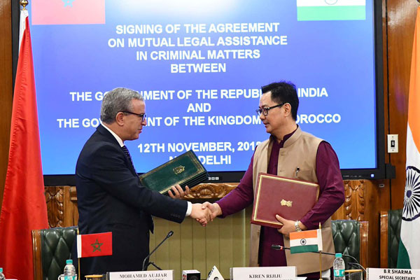 India, Morocco sign agreement on combatting crime