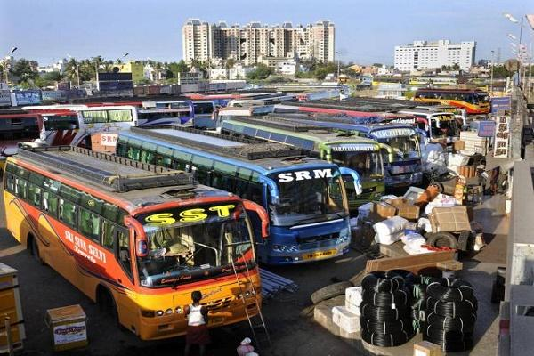 Inter-state private buses reduced to a third