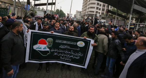 Thousands in Baghdad mourn Iranian general killed by US
