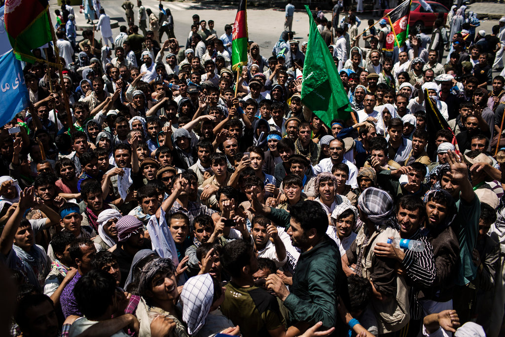 Thousands protest in Kabul against alleged election fraud