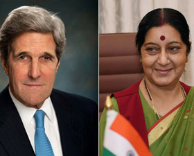 Snooping by US unacceptable, Sushma Swaraj tells Kerry
