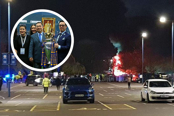 Leicester City owners helicopter crashes after match
