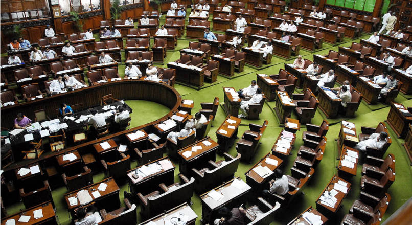 LS proceedings disrupted due to protests by SP, Cong, others