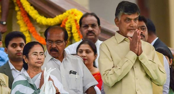 Mamata and Naidu hold closed door meeting on Mahagathbandhan future course