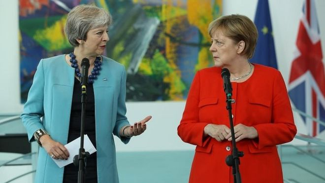 Merkel to host May for Brexit talks Tuesday: Berlin