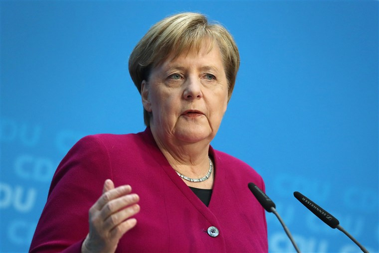 Merkel urges political solution to Iran-US dispute