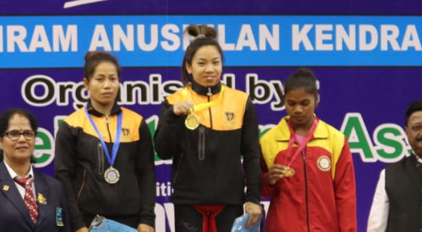 Mirabai Chanu betters own national record to secure gold