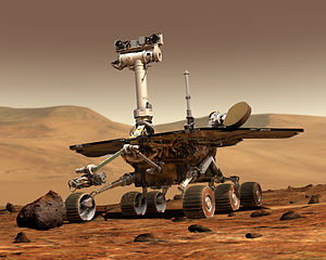 Rover eyes man-made objects in Martian dirt